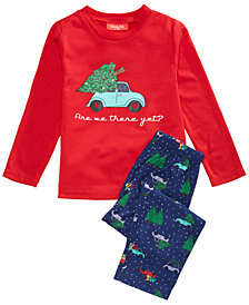 Matching Family Pajamas Are We There Yet Pajama Set, Available In Toddler and Kids, Created For Macy's