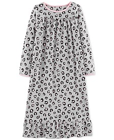 76438c3b2 Carter s Little   Big Girls Bulldog Graphic Fleece Nightgown ...