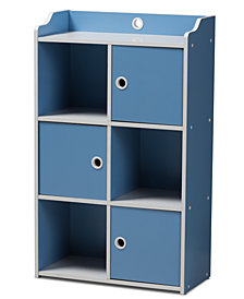 Aeluin Children's 3-Door Bookcase, Quick Ship