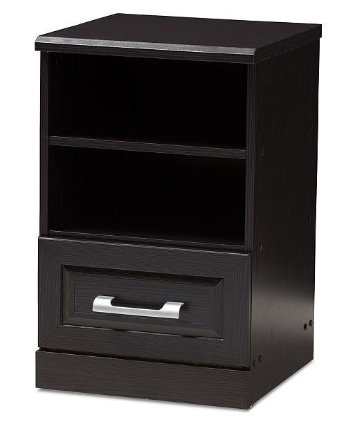 Furniture Odelia 1-Drawer Nightstand, Quick Ship