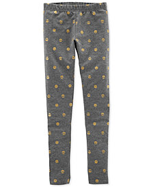 Carter's Little & Big Girls Emoji Graphic Leggings