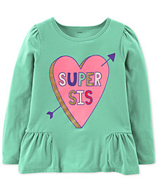 Carter's Little & Big Girls Super Sis Graphic Shirt