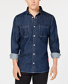Calvin Klein Jeans Men's Denim Utility Shirt