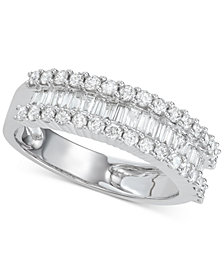 Diamond Baguette Cluster Band (1 ct. t.w.) in 14k White Gold