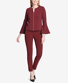 Calvin Klein Bell-Sleeve Jacket & Ponté-Knit Pants