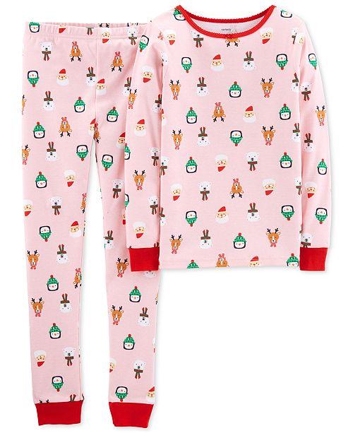 502195d14098 Carter s Little   Big Girls 2-Pc. Holiday Snug-Fit Cotton Pajama Set ...