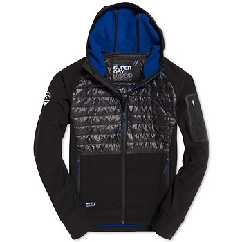 Superdry Men&#39s Mountain Softshell Hybrid Jacket