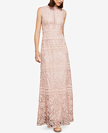 BCBGMAXAZRIA Sleeveless Lace Maxi Dress