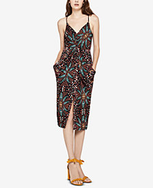 BCBGeneration Drape-Pocket Midi Dress