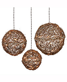 Vickerman Rattan Ball Set