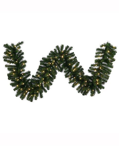 Vickerman 50' Douglas Fir Artificial Christmas Garland with 350 Warm White LED Lights