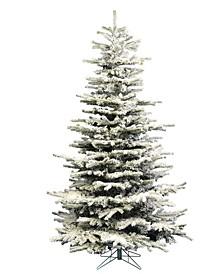 7.5' Flocked Sierra Fir Slim Artificial Christmas Tree Unlit