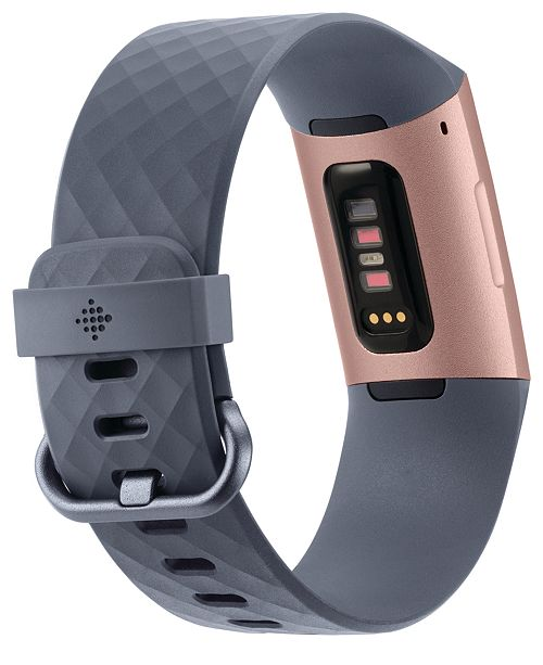 Charge 3 Unisex Blue-Gray Elastomer Band Touchscreen Smart Watch 22 7mm