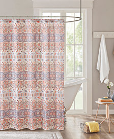"Intelligent Design Mirabelle 72"" x 72"" Printed Shower Curtain"