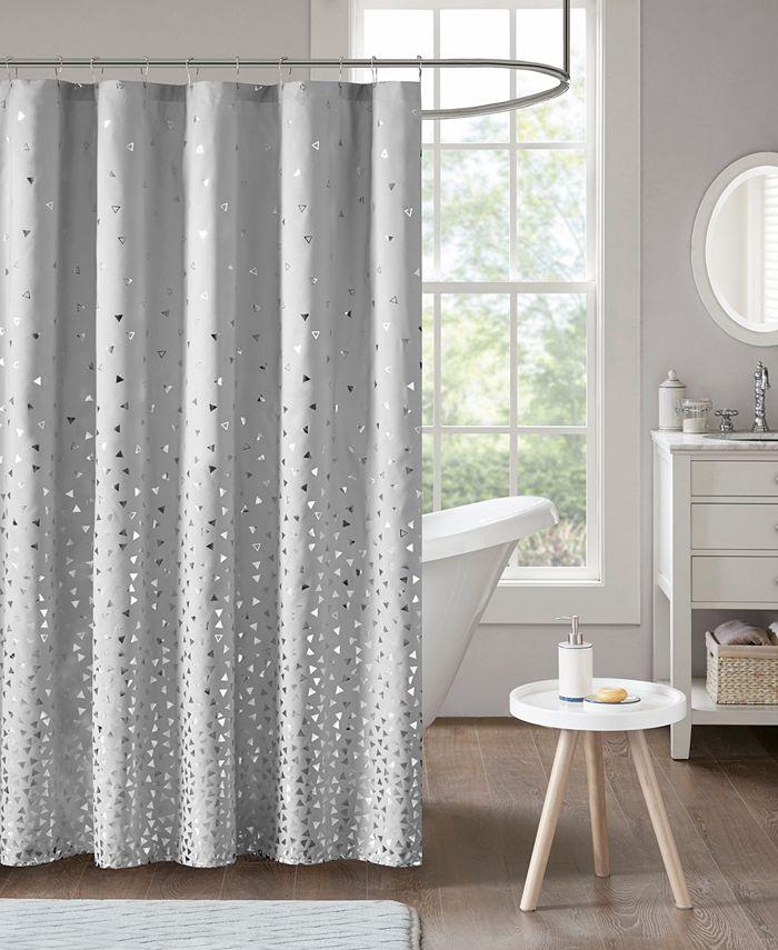 """Intelligent Design - Zoey 72"""" x 72"""" Printed Shower Curtain"""