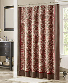 "Madison Park Talbot 72"" x 72"" Jacquard Shower Curtain"