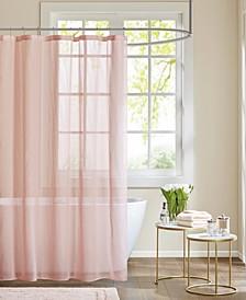 "Anna 72"" x 72"" Sheer Shower Curtain"