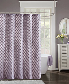 "Madison Park Erin 72"" x 72"" Clipped Shower Curtain"