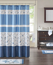 Madison Park Solandis 72 X Cotton Printed Shower Curtain