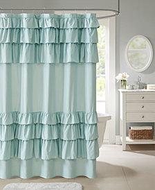 Madison Park Grace 72 X Ruffled Shower Curtain