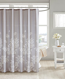 "Madison Park Marian 72"" x 72"" 100% Cotton Printed Shower Curtain"