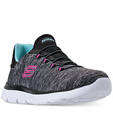 Skechers Women's Summits - Quick Getaway Wide Width Walking Sneakers from Finish Line