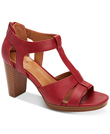 Style & Co Ophelia Block-Heel Cutout Sandals, Created for Macy's