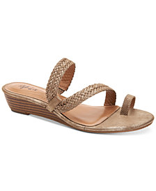 Style & Co Hartlee Slide On Wedge Sandals, Created For Macy's