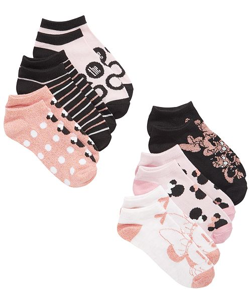 Planet Sox Minnie Mouse Little & Big Girls 6-Pk. No-Show Socks