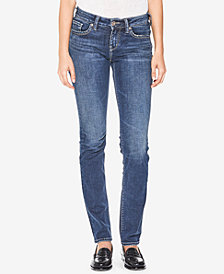 Silver Jeans Co. Suki Curvy-Fit Straight-Leg Jeans