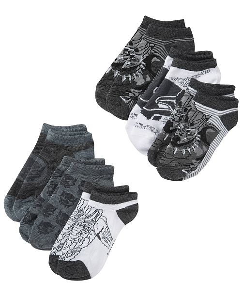 a2373fb20 Berkshire Marvel Little Boys 6-Pk. Black Panther No-Show Socks ...