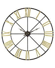 "Baldwin Oversized 48"" Metal Wall Clock"