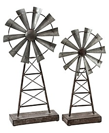 Farmhouse Windmill Table Top Decor (Set of 2)