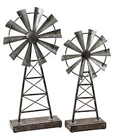 Farmhouse Windmill Table Top Décor, Set of 2