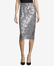 ECI Metallic Pencil Skirt