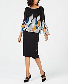 Alfani Pleated-Sleeve Top & Scuba Skirt, Created for Macy's
