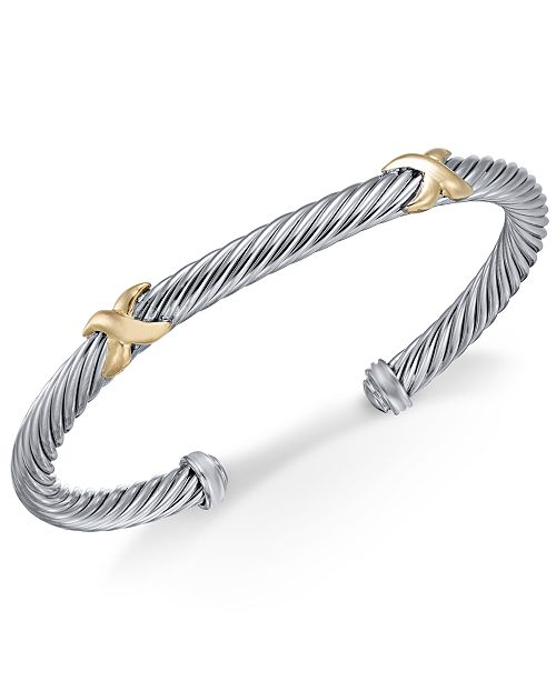 Macy S Cable Cuff Bangle Bracelet In