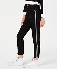 Rewash Juniors' High-Rise Zipper Jeans