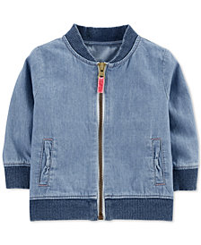 Carter's Baby Boys Cotton Denim Bomber Jacket