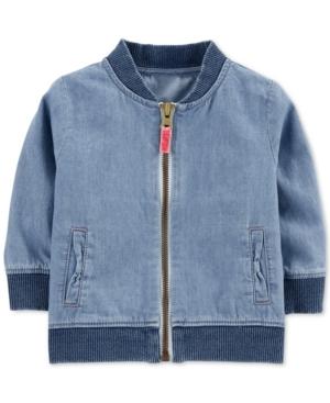 Carters Baby Boys Cotton Denim Bomber Jacket