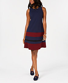 Charter Club Striped Sleeveless Dress, Created for Macy's