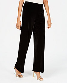 Alex Evenings Velvet Wide-Leg Pants
