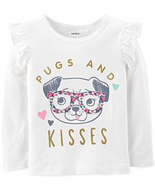 Carter's Baby Girls Pugs-Print Cotton T-Shirt
