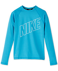 Nike Big Girls Swim Hydroguard Rash Guard