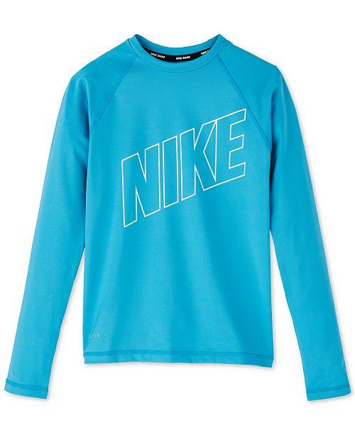 897d854581f Nike Big Girls Swim Hydroguard Rash Guard - Swimwear - Kids - Macy's