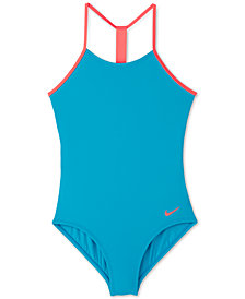 Nike Big Girls 1-Pc. T-Back Swimsuit