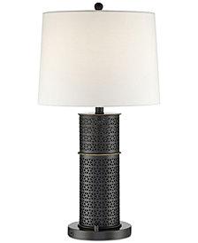 Lite Source Kenbridge Round Bluetooth Speaker Table Lamp