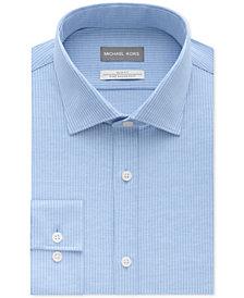 Michael Kors Men's Slim-Fit Non-Iron Airsoft Stretch Performance Stripe Dress Shirt