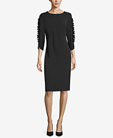ECI Ruffle-Trim Sheath Dress