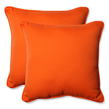 "Sundeck Orange 18.5"" Throw Pillow, Set of 2"